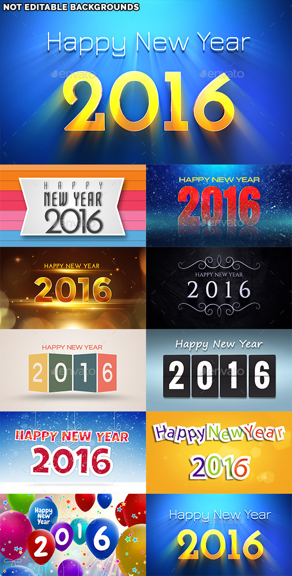Happy New Year 2016 - Backgrounds Graphics