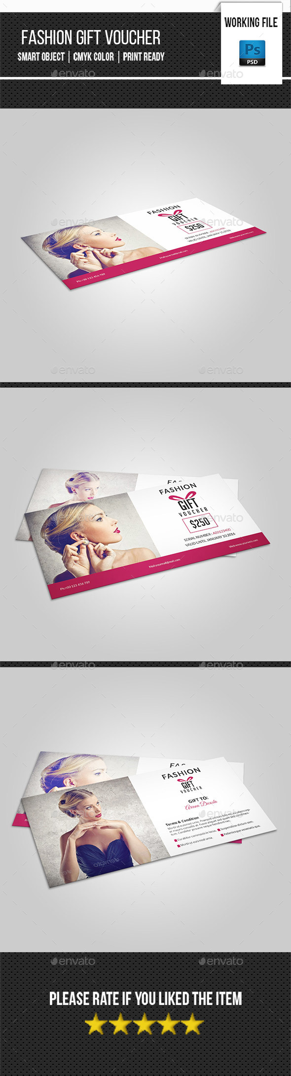 Fashion Gift Voucher Template-V01 - Loyalty Cards Cards & Invites