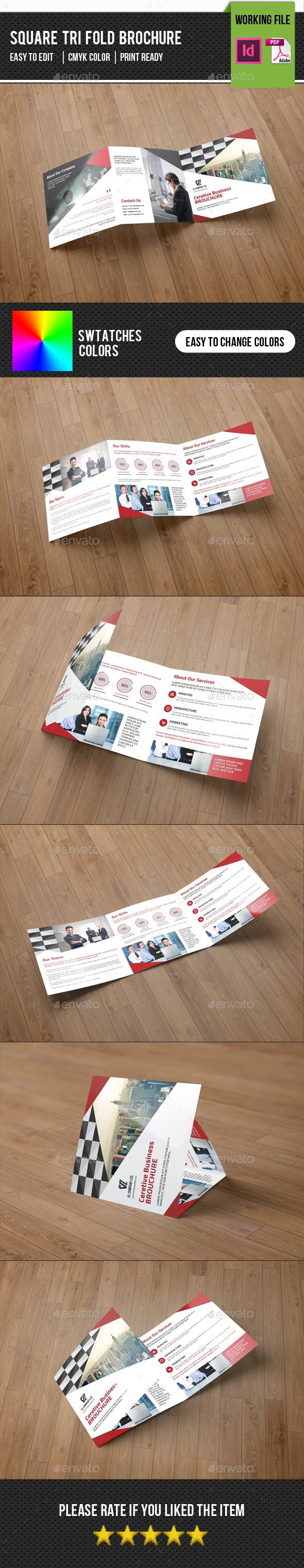 Corporate Square Trifold Brochure-V79 - Corporate Brochures