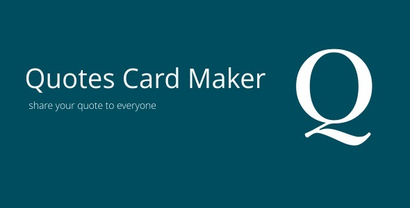 Quotes Card Maker 3.1 - CodeCanyon Item for Sale