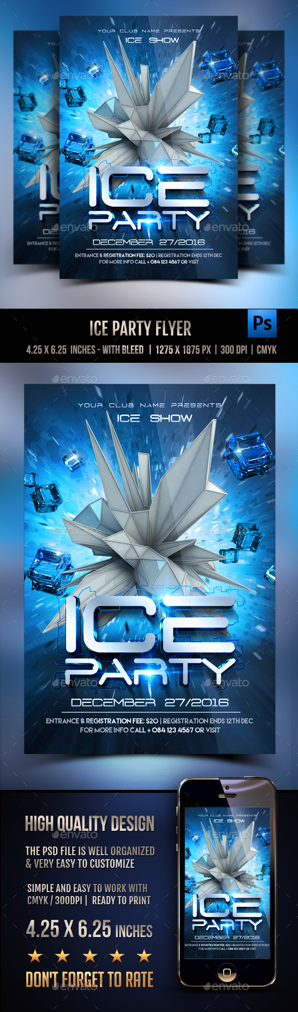 Ice Party Flyer - Clubs & Parties Events