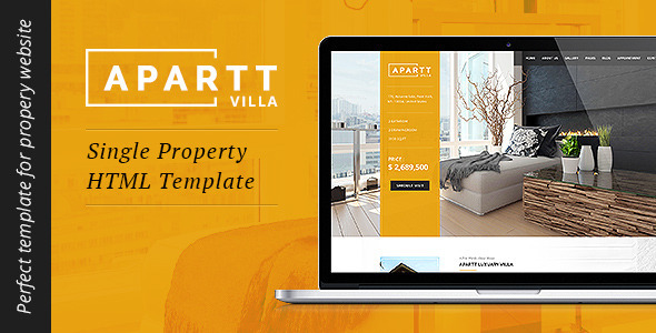 APARTT VILLA- Single Property HTML Template - Business Corporate