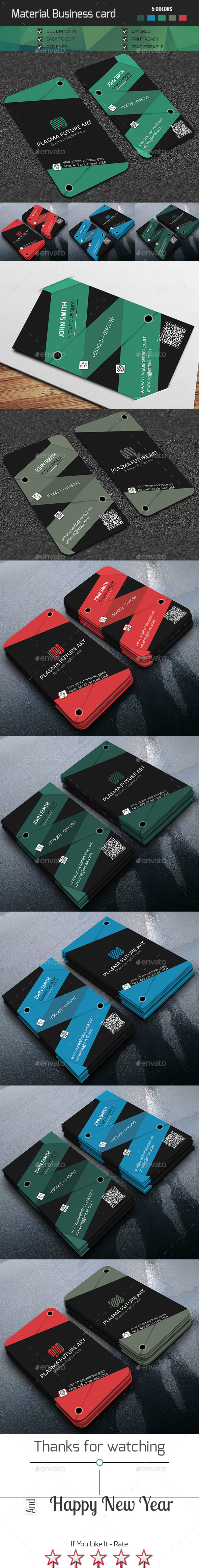 Material Design Business Card - Creative Business Cards