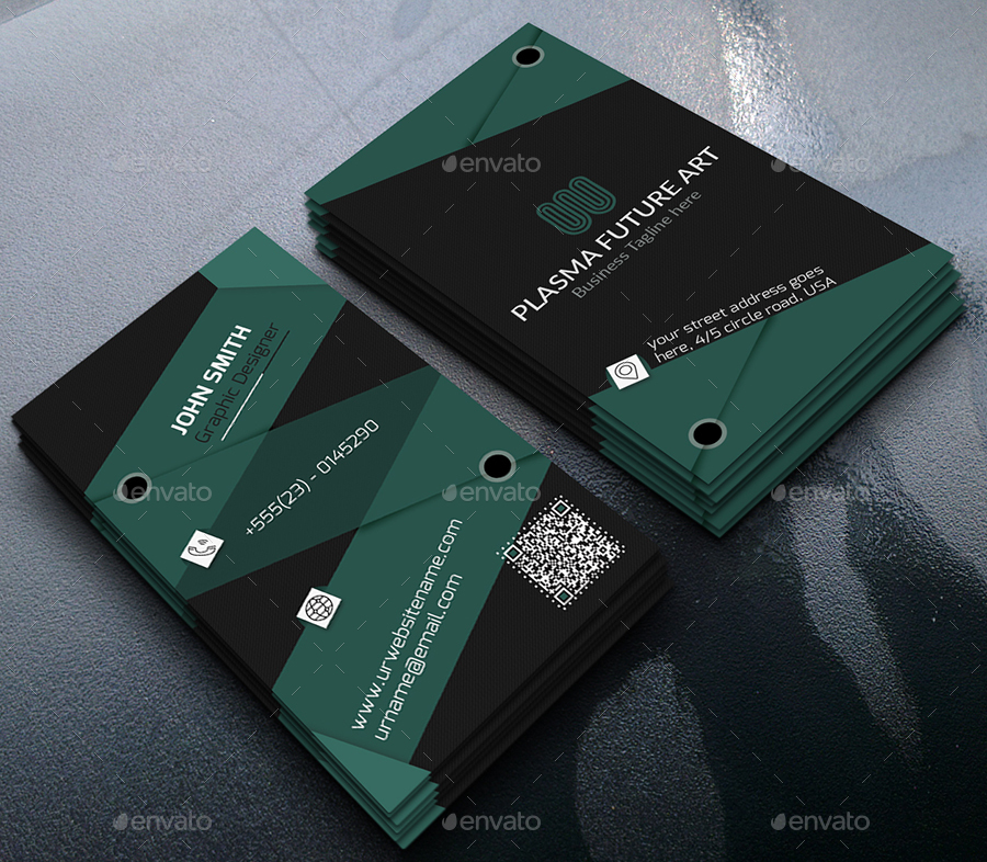 Material Design Business Card by Ancient_Ego | GraphicRiver