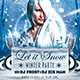 Let It Snow Winter Party Flyer Template - GraphicRiver Item for Sale