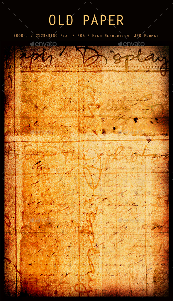 Old Paper 0257 - Paper Textures