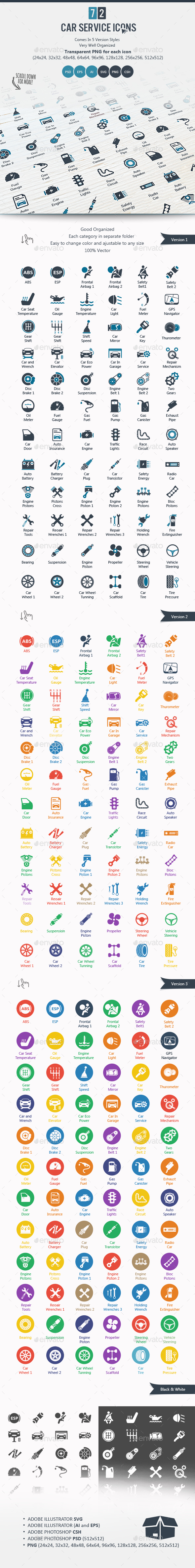 Car Service Icons - Icons