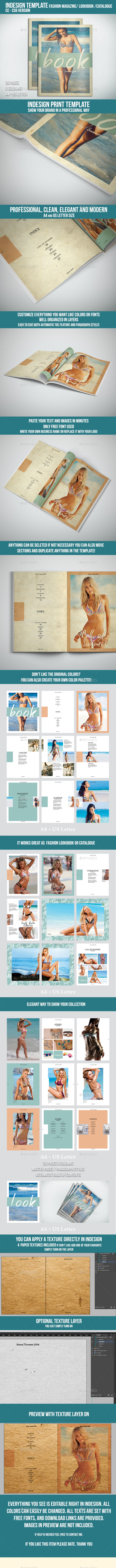 Lookbook / Fashion Magazine / Catalogue / Brochure Indesign Template - Print Templates