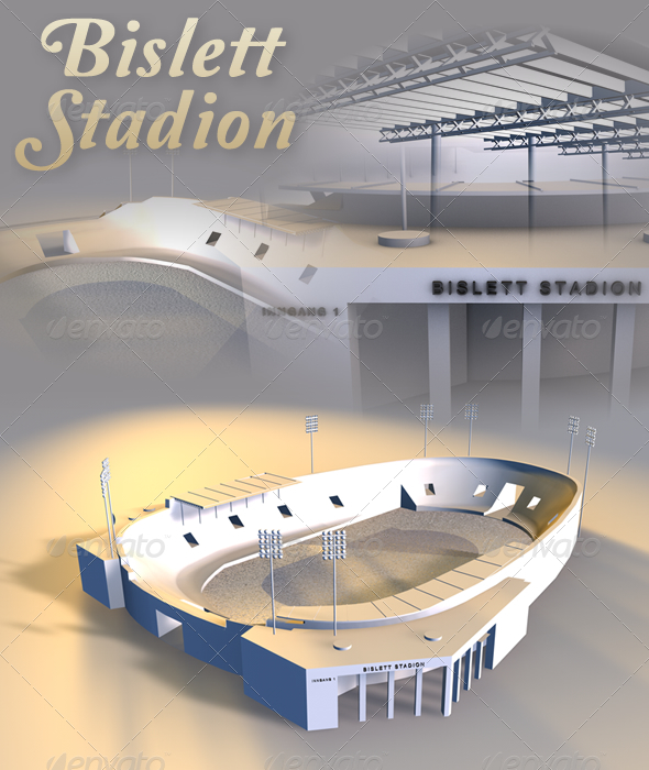 Bislett Stadion - 3DOcean Item for Sale
