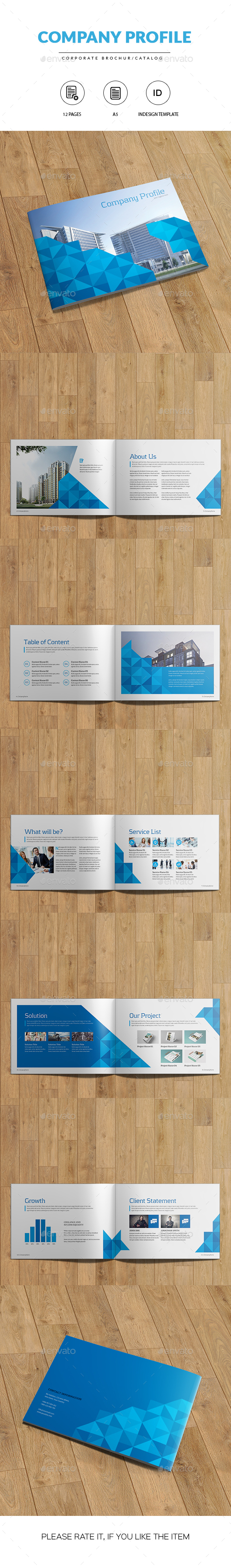 A5 Corporate Brochure/Catalog | Indesign Template - Catalogs Brochures