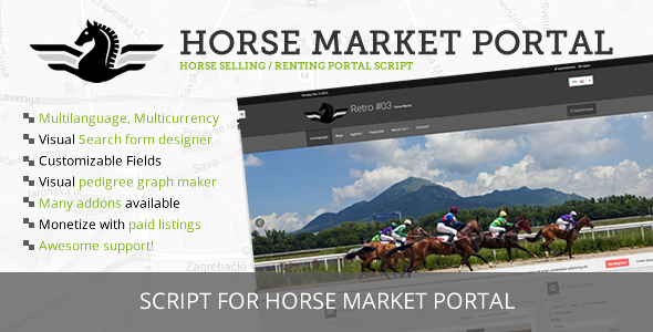 Horse Market Sell & Rent Portal - CodeCanyon Item for Sale