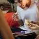 Hipster Eating And Using a Tablet Computer - VideoHive Item for Sale