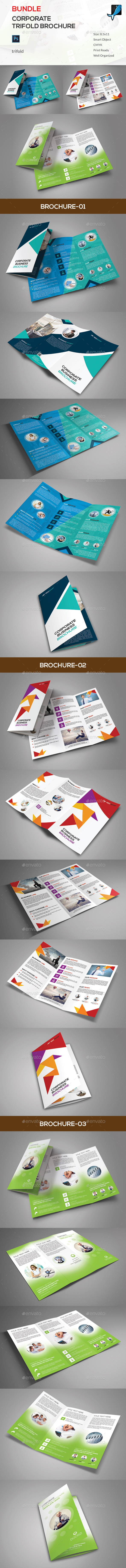 Corporate Trifold Brochure Bundle - Corporate Brochures