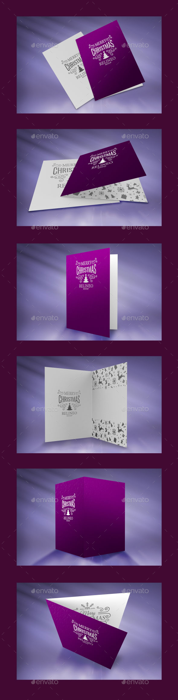 Christmas Greeting Card Mock-up Pack Vol.2 - Miscellaneous Print