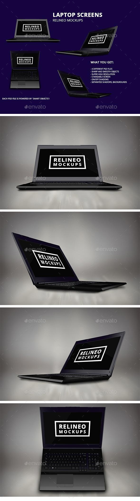 Windows Laptop Display Mock-up Pack Vol.1 - Laptop Displays