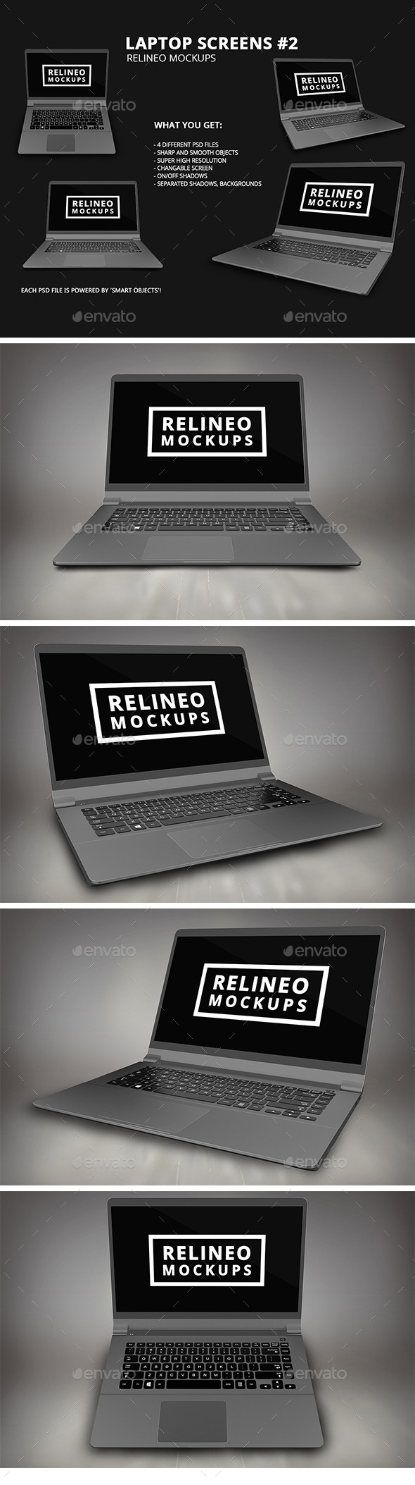Windows Laptop Display Mock-up Pack Vol.2 - Laptop Displays