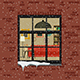 Winter Window in Brick Wall - GraphicRiver Item for Sale