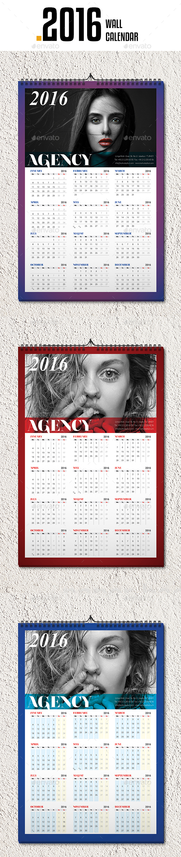 Wall Calendar 2016 v5 - Calendars Stationery