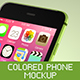 Colored Phone Mockup - GraphicRiver Item for Sale