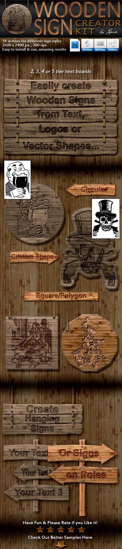 Wooden Sign Creator Kit - Utilities Actions