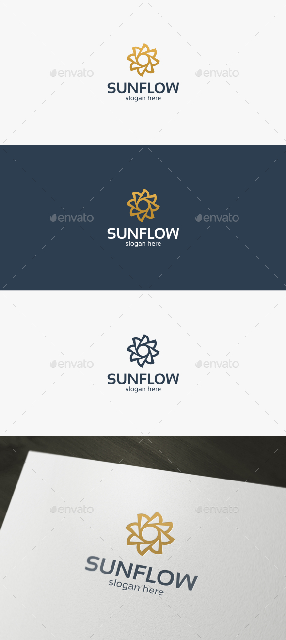 Sun Flower - Logo Template - Nature Logo Templates