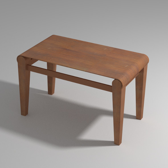 Wood Stool - 3DOcean Item for Sale