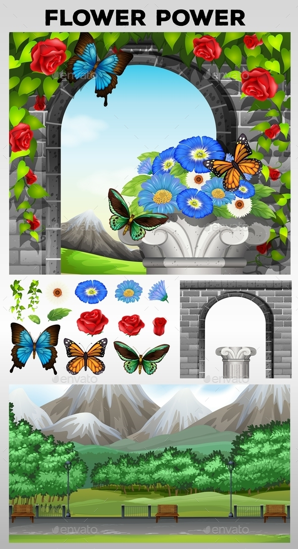 Nature Scene with Park and Garden - Miscellaneous Conceptual