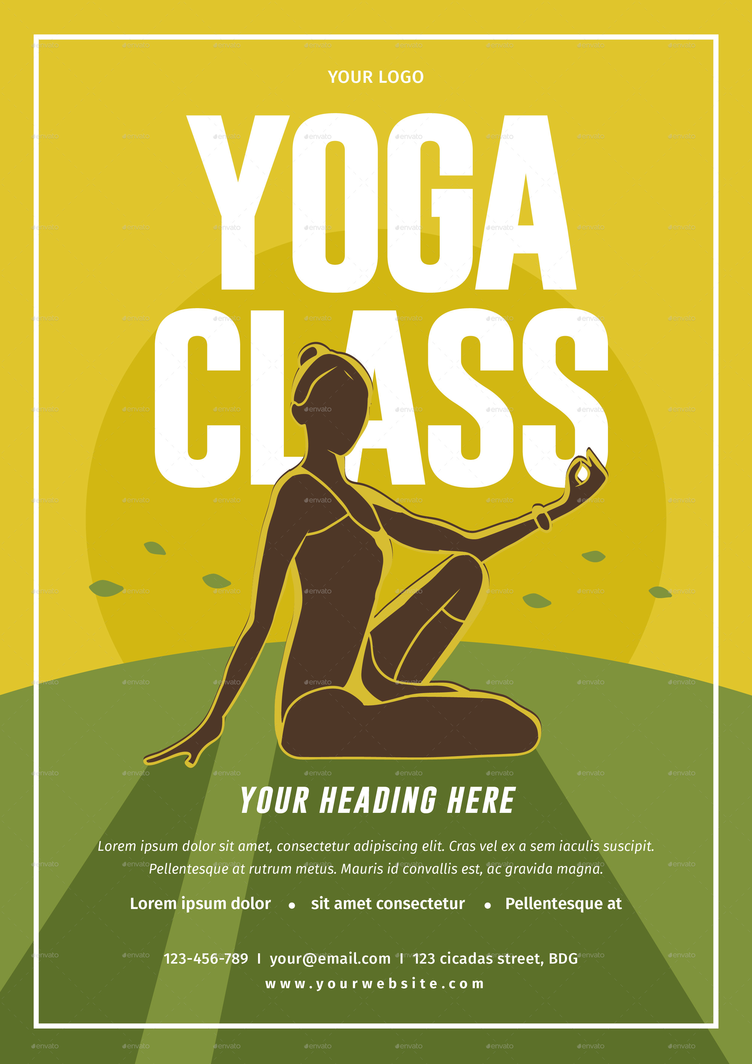 Yoga Class Flyer By Lilynthesweetpea