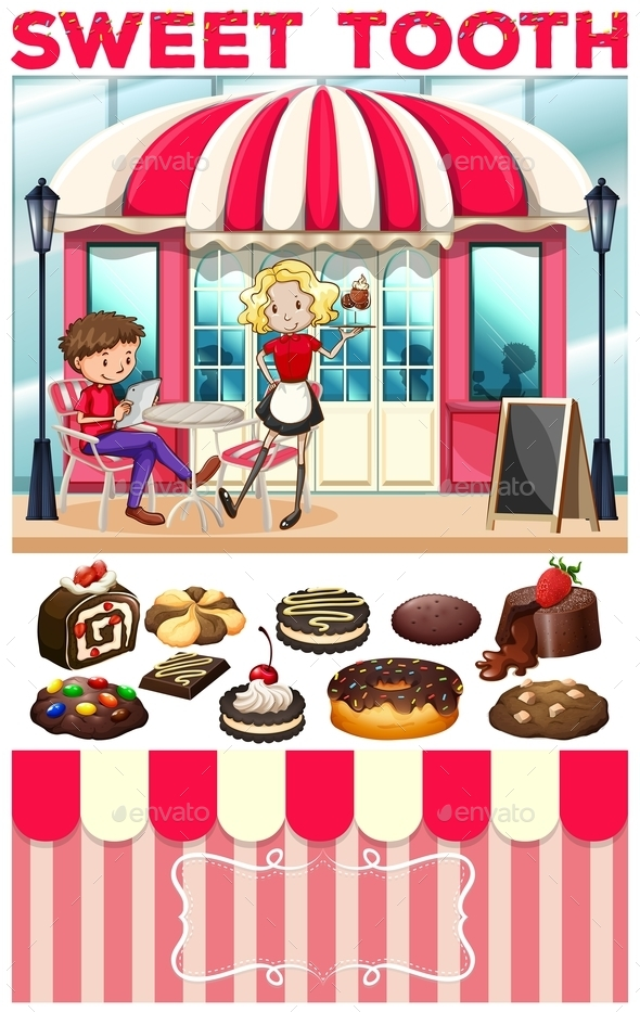People at the Bakery Shop - People Characters