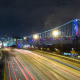 Night Traffic Under Ben Franklin Bridge, Philadelphia - VideoHive Item for Sale