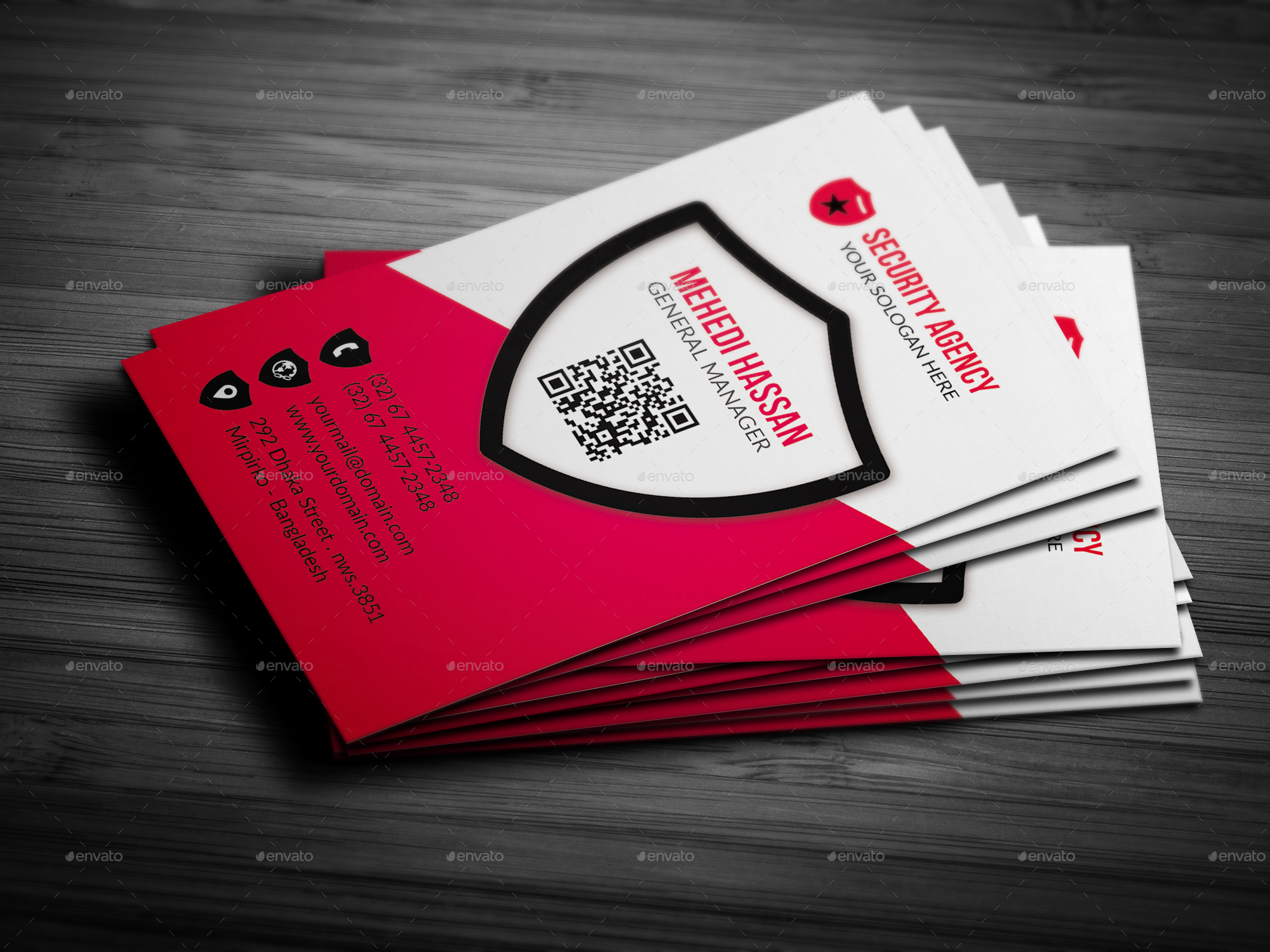 Security Business Card Version 2 by Mehedi__Hassan | GraphicRiver