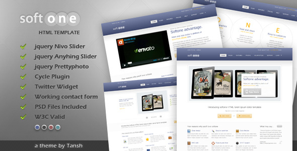 Free Download Softone Software / App HTML Template Nulled Latest Version