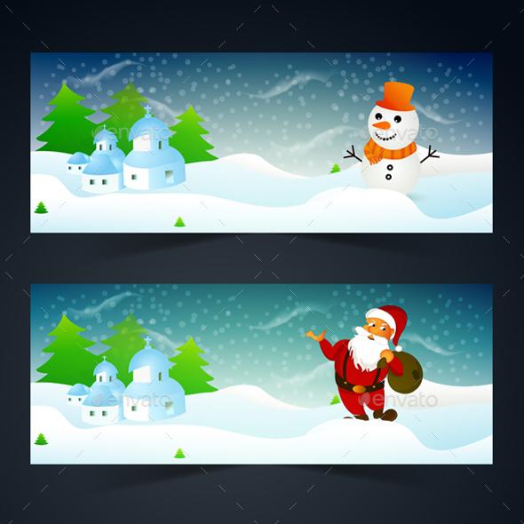 Christmas Headers - Seasons/Holidays Conceptual