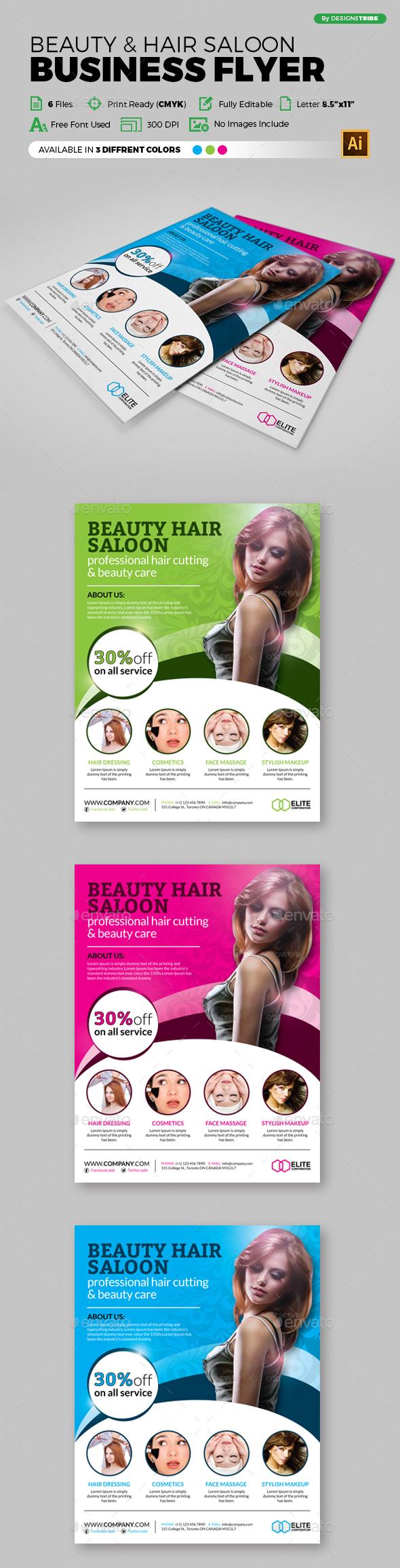 Flyer - Beauty Saloon 107 - Flyers Print Templates