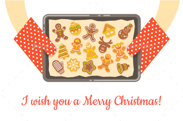 Christmas Bakery Gingerbread Cookies - Food Objects