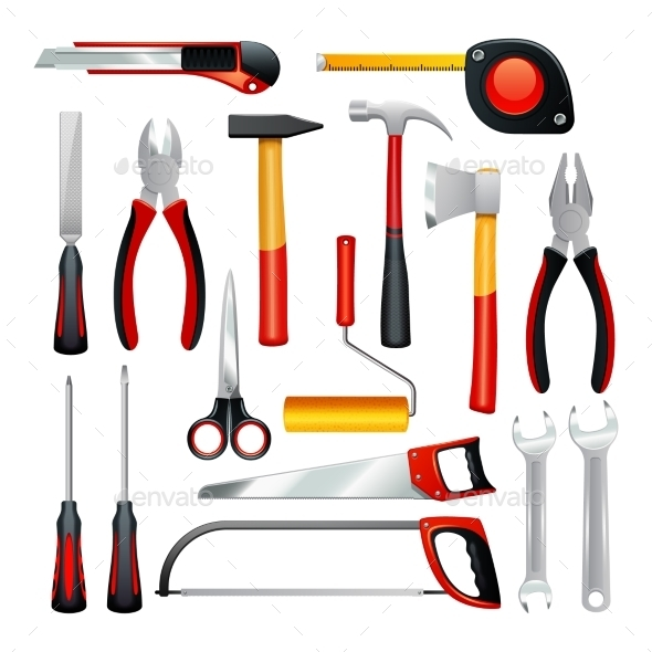 Tools Icons Set - Man-made Objects Objects