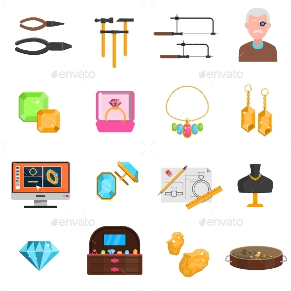 Jeweller Icons Set - Business Icons