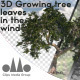 Photorealistic 3D Growing Tree With Leaves In The Wind - VideoHive Item for Sale