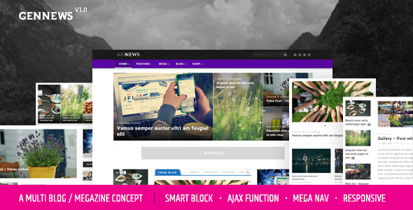 GENNEWS – Smart Ajax Filter Megazine WP Themes
