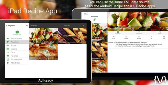 iPad Recipe App - CodeCanyon Item for Sale