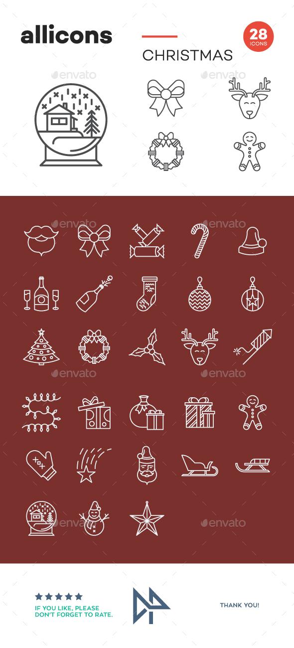 Christmas icons - Seasonal Icons