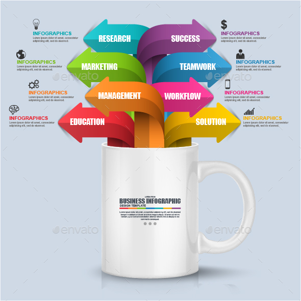 Business White Cup Infographic - Infographics