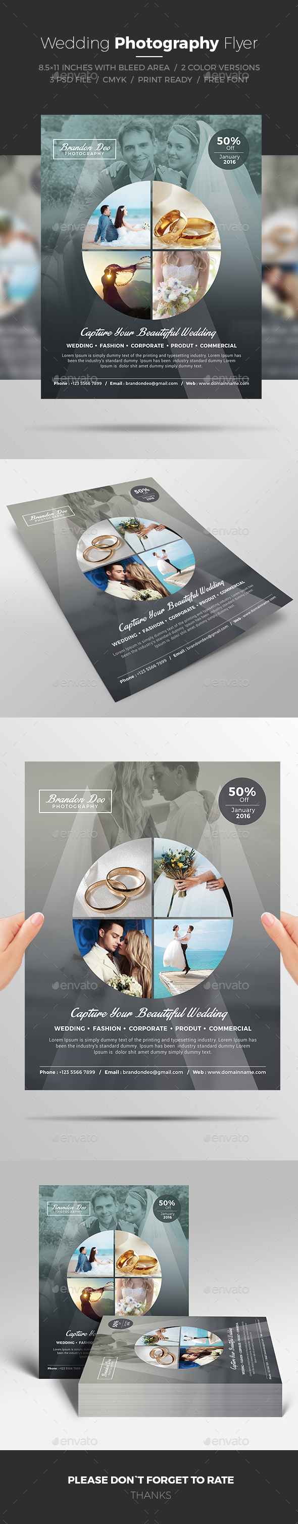 Wedding Photography Flyer - Commerce Flyers