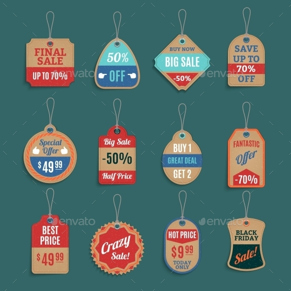 Sale Tags Set - Man-made Objects Objects