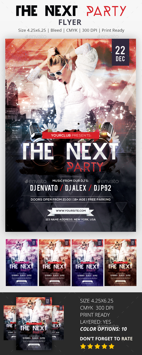 The Next Party - PSD Flyer - Clubs & Parties Events