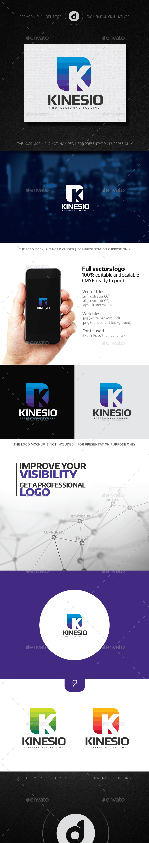 Kinesio Logo - Letters Logo Templates
