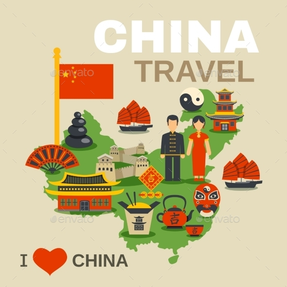 Chinese Culture Traditions Travel Agency Poster - Travel Conceptual