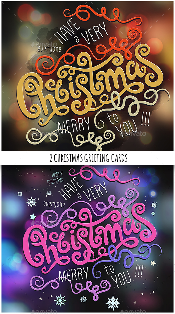 Merry Christmas Hand Lettering Set - Christmas Seasons/Holidays