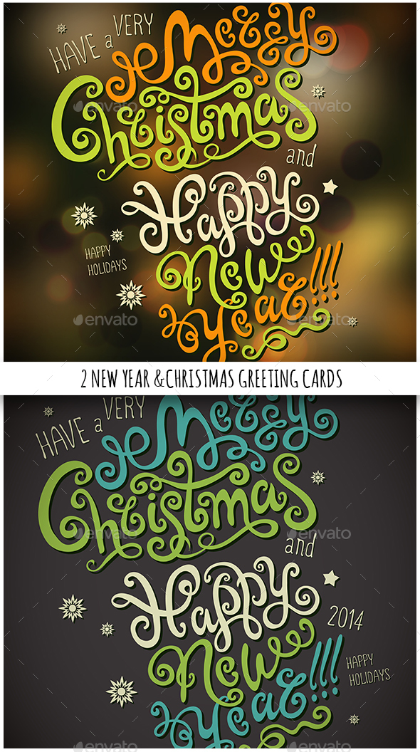 Christmas & New Year Hand Lettering Set - Seasons/Holidays Conceptual