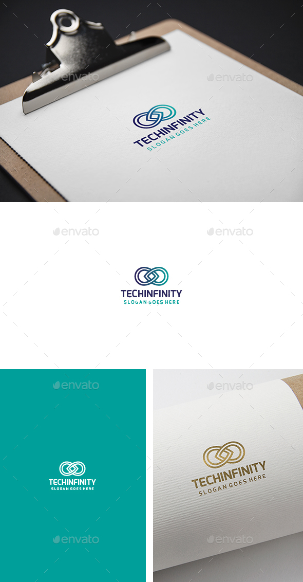Tech Infinity Logo - Abstract Logo Templates